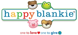 """Happy Blankie is donating blankies to children in need all over the world. YOU will be able to make a difference by choosing where you would like to give a blankie. When you receive your blankie you will be able to follow the instructions on the """"giving is cool"""" tag in order to donate your second blanket."""