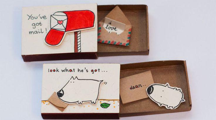 Daqui Dali» Arquivo do Blog » Transforme caixinhas de fósforo em cartões de Natal criativos