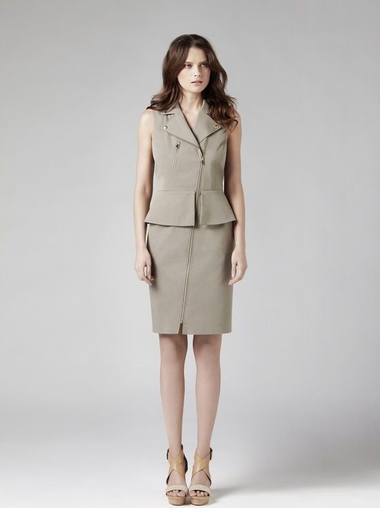 Simple chic in a peplum dress.  Prices on request.