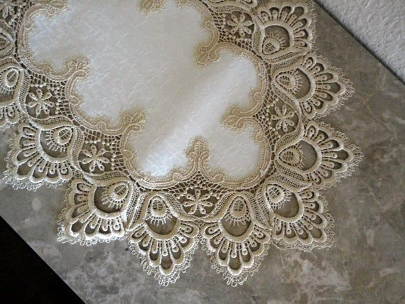 70 Delicate Soft Gold Lace Dresser Scarf Table Runner Etsy In 2020 Gold Lace Linens And Lace Lace Doilies