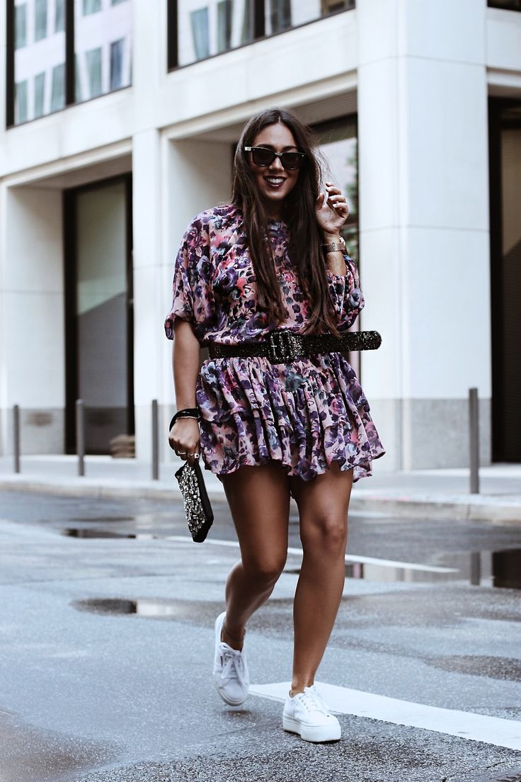 Streetstyle: Flower Dress & Superga. - Fashionindividual http://fashionindividual.com/streetstyle-flower-dress-superga/