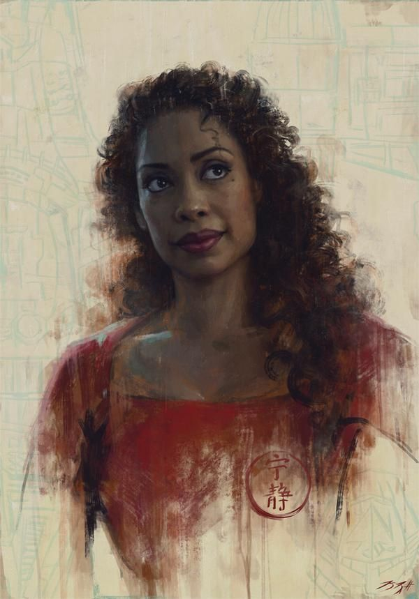 Gina Torres (as Zoe from Firefly) portrait by Sam Spratt