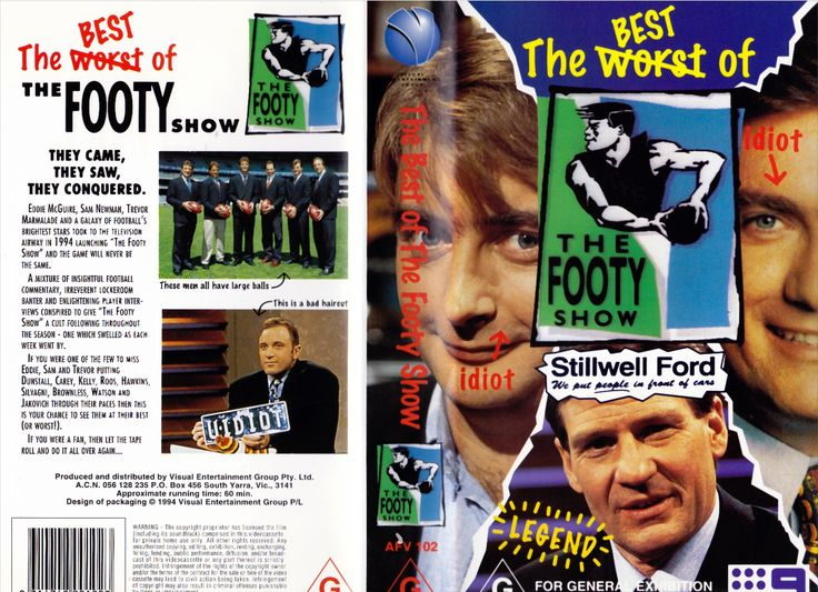 The Best Worst of The Footy Show - VHS Video Tape Front & Back Cover