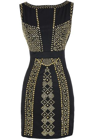 Queen of the Nile Embellished Bodycon Dress
