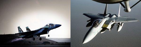 (좌)이스라엘 공군의 F-15 전투기는 시리아 공군과의 공중전에서 50여대의 적기를 격추시킨다.<사진 출처: 이스라엘 공군><br> (우)사우디아라비아 공군의 F-15C/D 전투기는 1984년 6월 이란 공군의 F-4E 전투기 2대를 격추시켰다.<사진 출처: 미 공군>
