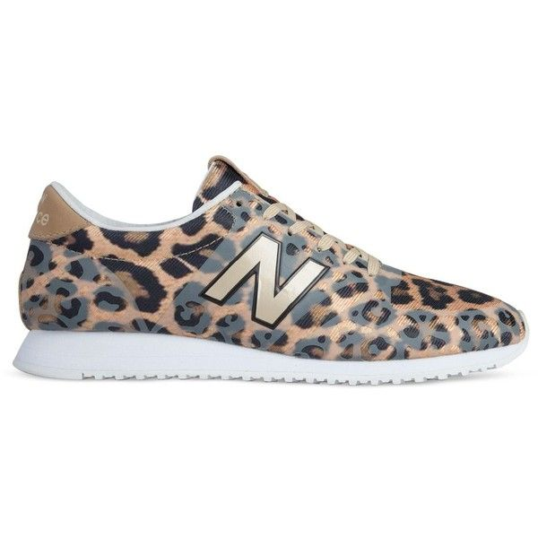 New Balance Leopard Print 420 Sneakers ($100) ❤ liked on Polyvore featuring shoes, sneakers, leopard, retro sneakers, cut-out sneakers, lace up shoes, lacing sneakers and leopard shoes