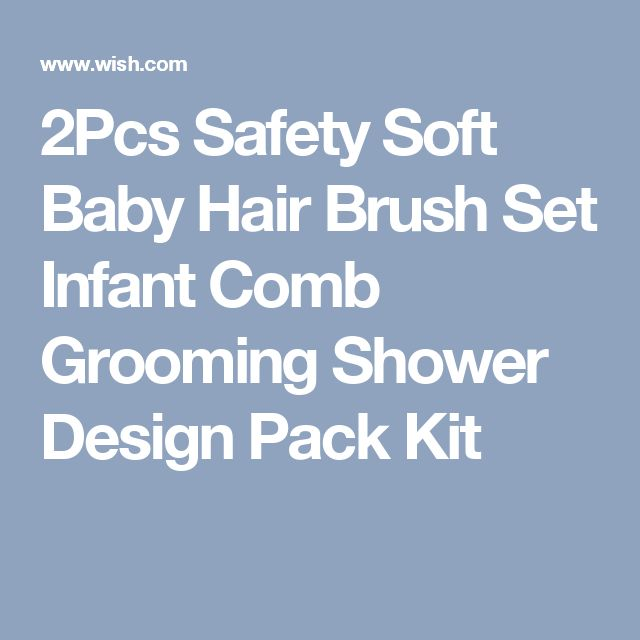 2Pcs Safety Soft Baby Hair Brush Set Infant Comb Grooming Shower Design Pack Kit