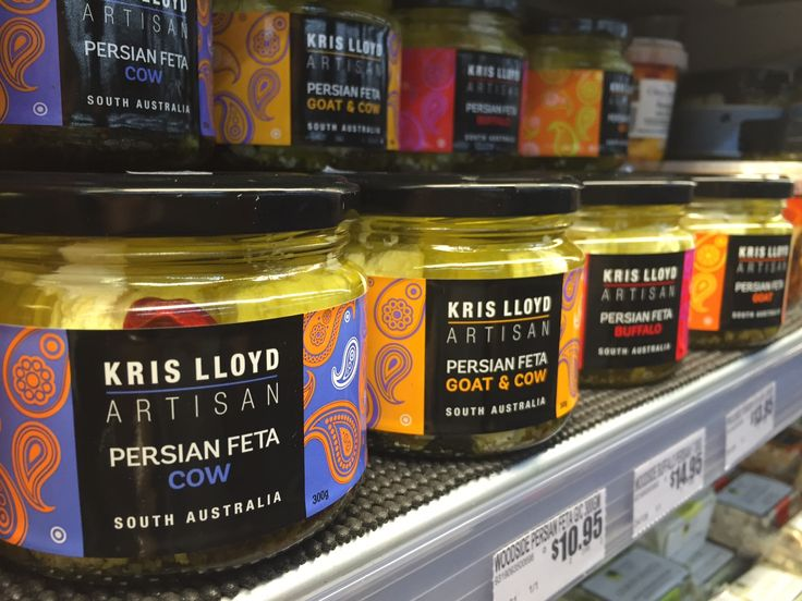 PERSIAN FETA / Looking for something a little different for your next meze platter? Blended with herbs, organic garlic and extra virgin olive oil, the Kris Lloyd Artisan Persian Feta range complements meats, olives and other Mediterranean tapas foods.
