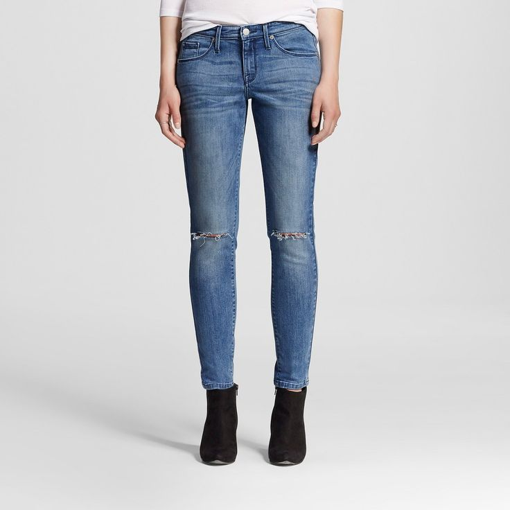 Women's Mid-rise Skinny Jeans Medium Wash 18R - Mossimo, Size: 18 Regular, Blue