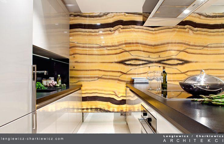 Salon połączony z kuchnią. Projekt i realizacja: lengiewicz-charkiewicz.com #kitchen (fotografia: Aleksander Rutkowski)