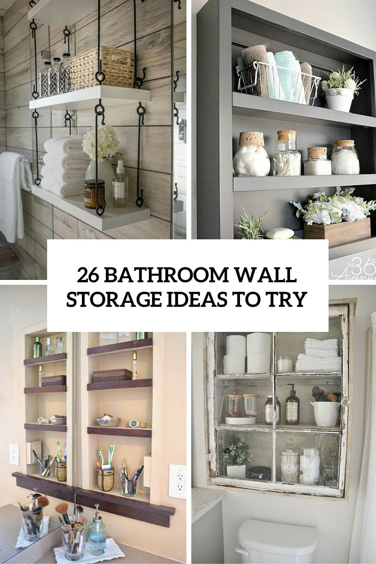 9 Wall Storage Ideas That You Need To Try: 1000+ Ideas About Bathroom Wall Storage On Pinterest