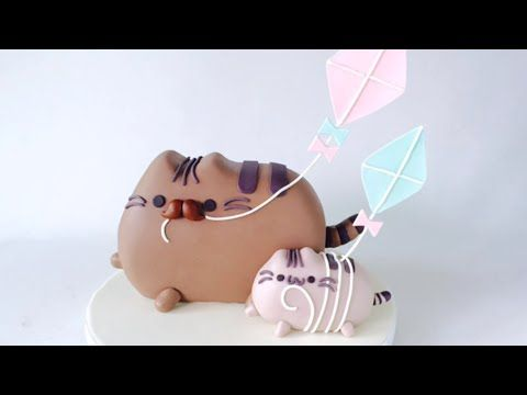 Father's Day Pusheen Cat CAKE. How to make. - YouTube