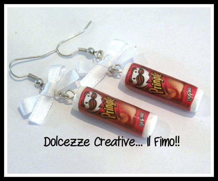Orecchini Pringles Classic, by Dolcezze creative.. il fimo!! , 8,00 € su misshobby.com