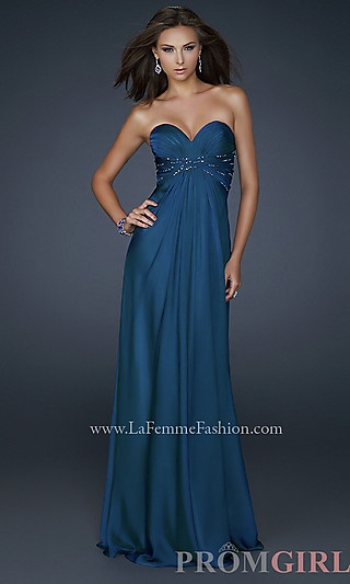 La Femme Strapless Gown 17581 at PromGirl.com http://www.promgirl.com/shop/dresses/viewitem-PD747504