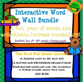Interactive Word Wall and Activities- Improve Student Vocabulary