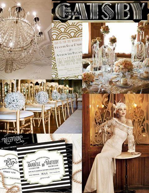 Casamento decoração Gatsby