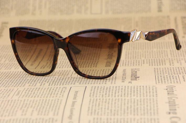 Знака Рамка Г-Жа солнцезащитные очки 0081 Элегантные Милый Минималистский дизайн Моды диких личности Черепаховый (Leopard цвет)
