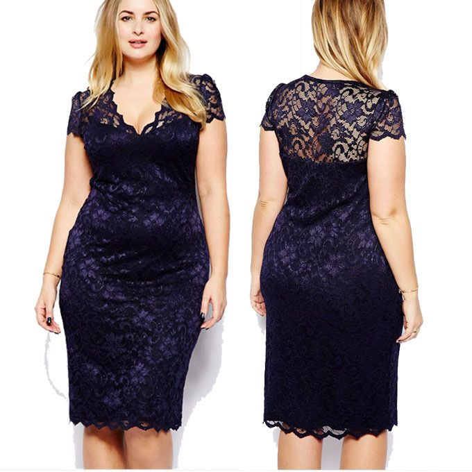 Women Sexy Elegant Flower Lace V-Neck Pencil dresses Ladies Party Evening Work Casual Special Occasion Bodycon Plush Size Dress
