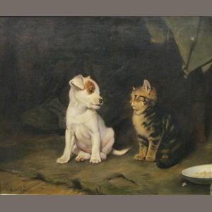 Charles Burton Barber (British, 1845-1894) Darby and Joan