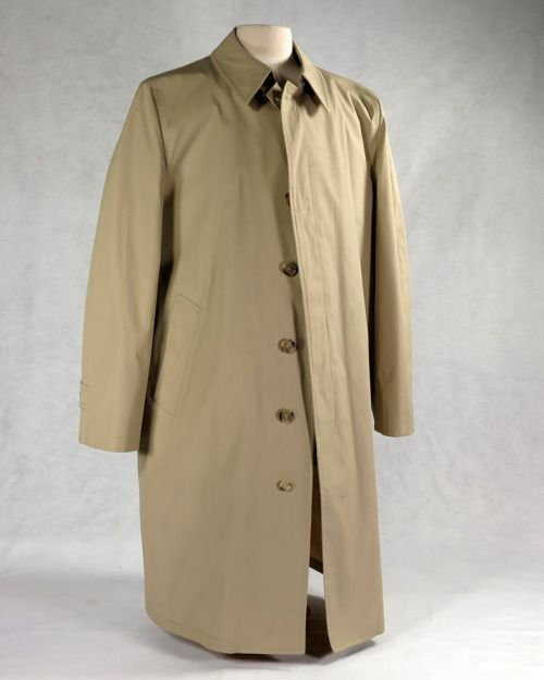 This beige coat was worn by President Gerald R. Ford and was designed not only to keep him warm and dry but also to protect his life. This coat came with a bullet-proof vest liner along with more standard features like the six front buttons, adjustable sleeve cuffs, and pockets accessible from the inside. The zip-up bullet-proof vest is made of Kevlar and is covered with cloth identical in color to the coat. Together both pieces weigh 6 lbs., 15 oz. A label sewn onto the front of the vest…