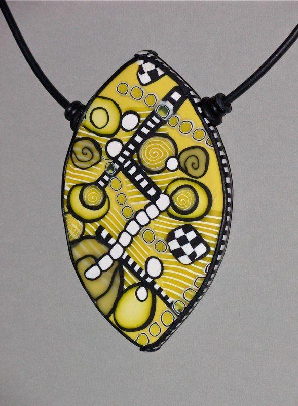 Debbie Jackson Polymer Clay Jewelry, Circles and Grids, DSCN0461.jpg (588×800)