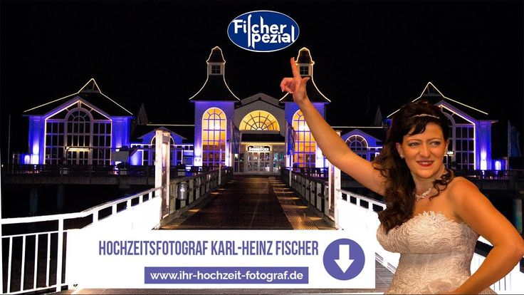 Seebrücke Sellin - Insel Rügen, maritime Hochzeit am Meer, Hochzeitsfoto...