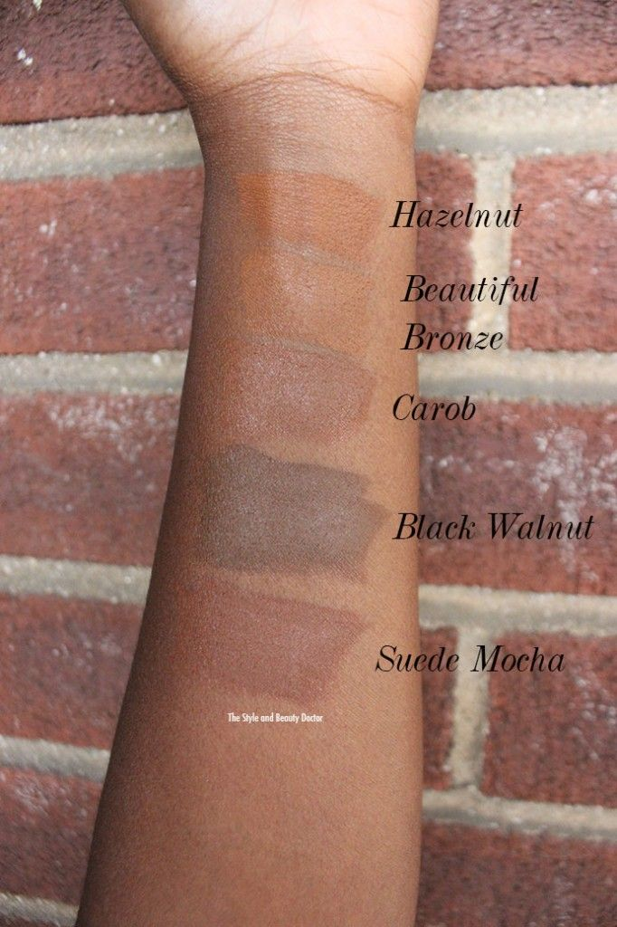 Black Opal Foundation Stick Swatches Beautiful Bronze