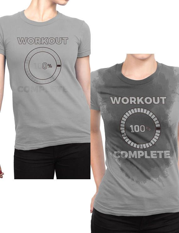 b7b9db3f2b Cool Workout Complete 100%, Sweat Activated Color Changing T-Shirt For  Women - Hard Gym Exercise Session Tee Shirt - Gift For Runners