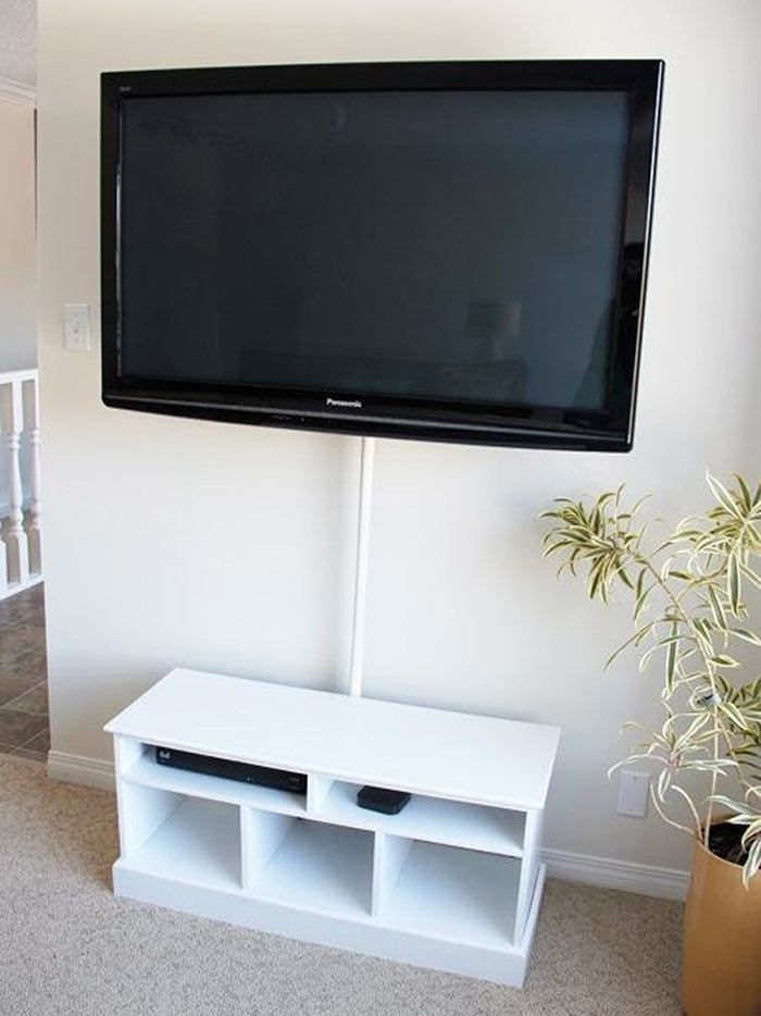 Hide the wires to the TV - 26 Inexpensive DIY Upgrades That Will Add A Touch Of Class To Your Home