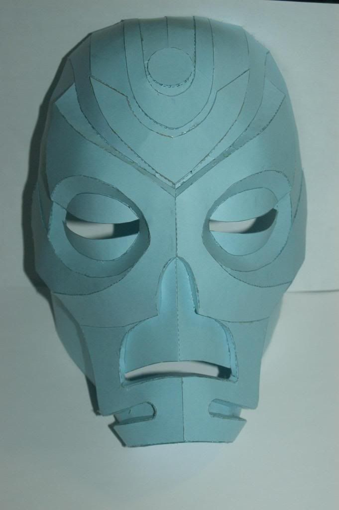 JTM's dragon priest mask pepakura file