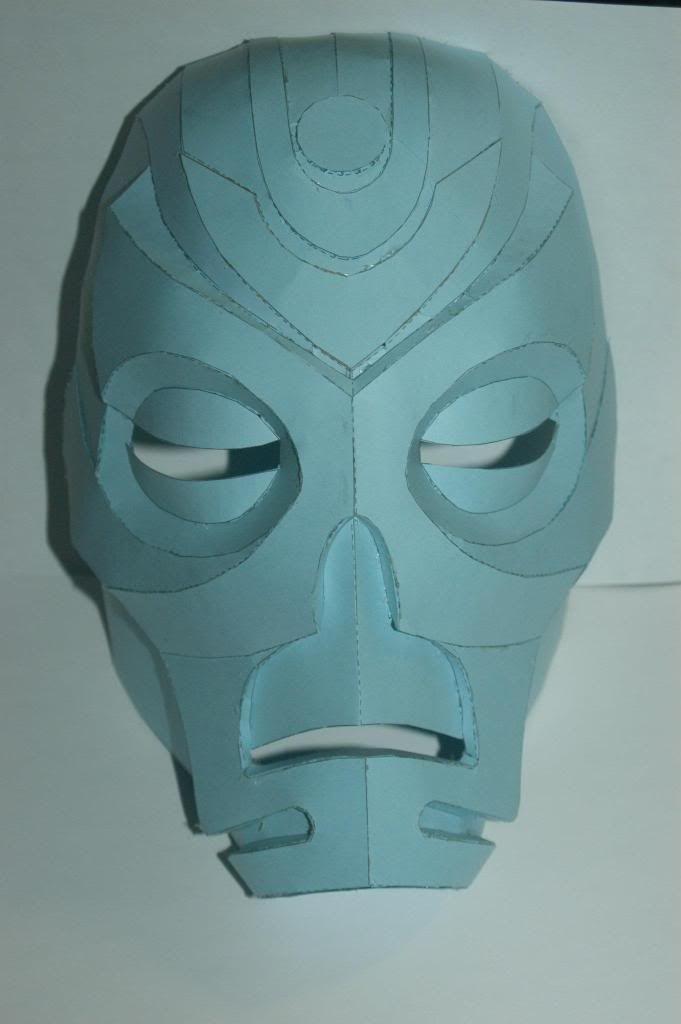 JTM's dragon priest mask pepakura file