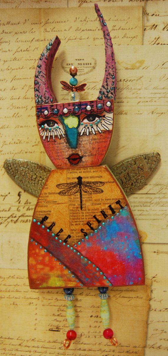 Altered Expression Art Doll  Free Spirit by desertdreamstudios, $80.00