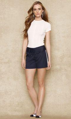 Lace-Up Twill Short - Blue Label Shorts & Skorts - Ralph Lauren UK