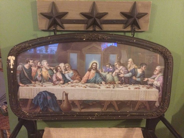 A personal favorite from my Etsy shop https://www.etsy.com/listing/523845475/vintage-ornate-frame-jesus-last-supper