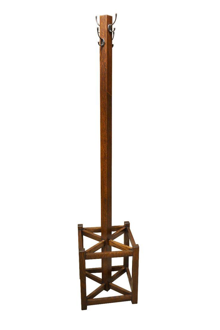 Arts and crafts hall tree - Coat Rack With Umbrella Stand Hall Tree