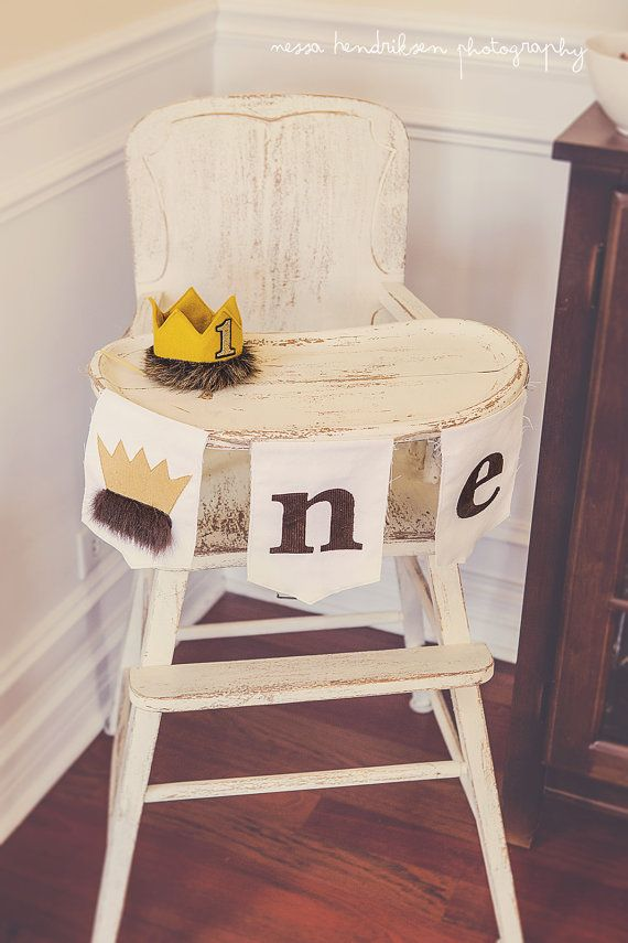Where The Wild Things Are Birthday Banner High Chair Highchair ONE Banner Party…