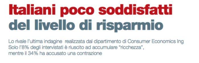ITALIANI POCO SODDISFATTI DEL LIVELLO DI RISPARMIO di Lele Riani - #scripomarket #scripofilia #scripophily #finanza #finance #collezionismo #collectibles #arte #art #scripoart #scripoarte #borsa #stock #azioni #bonds #obbligazioni