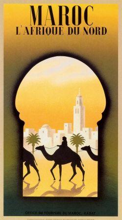 MAROC / MOROCCO ! Travel Poster ...