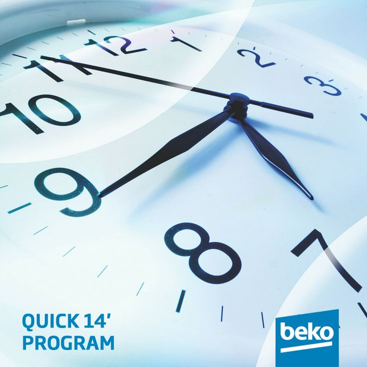 At Beko, we know your time is important and we do our best to provide the most efficient products possible. Quick 14' program washes 2kg capacity load at 0-30°C in just 14 minutes. Learn more at  #beko #washingmachine