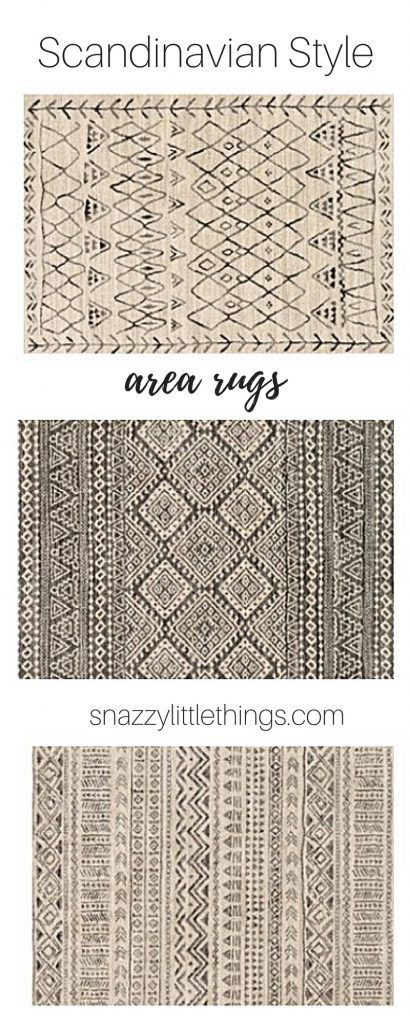 Area Rugs / Scandinavian / Style / Home Decor / Ideas / Inspiration