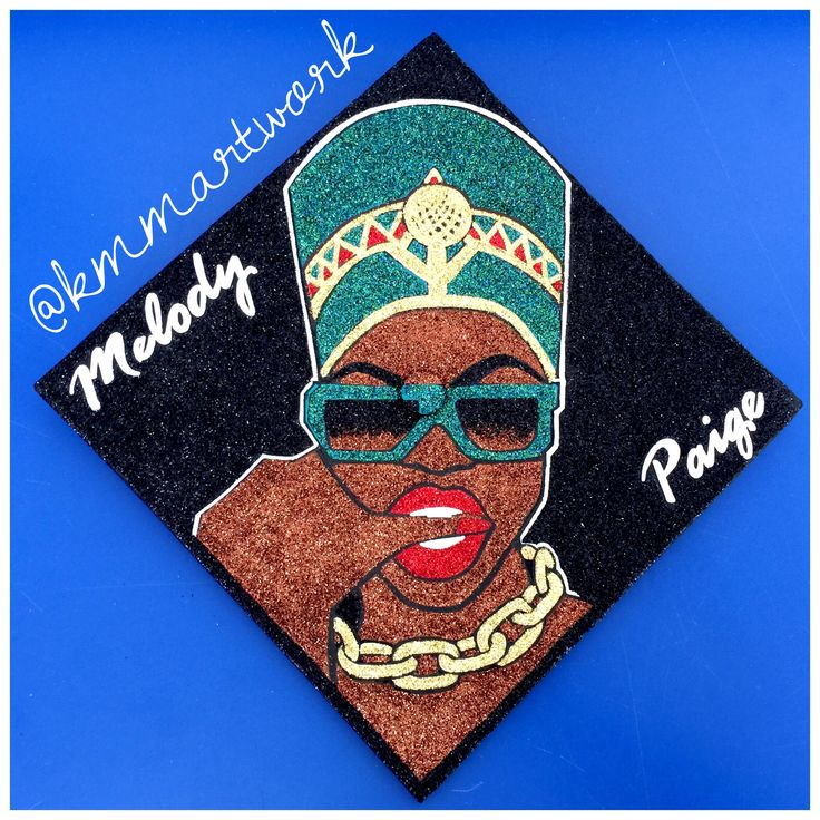 Graduation Cap Nefertiti Theme Inspired By A Sketch