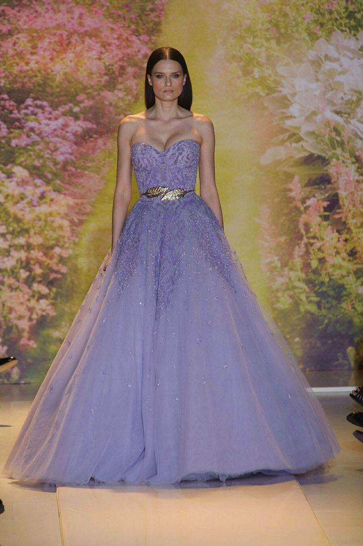 Womens designer runway fashion zuhair murad strapless for Designer haute couture dresses
