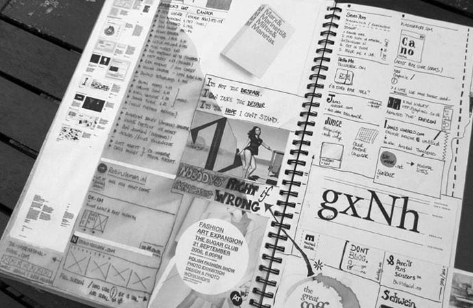 Freelance Graphic Design Sketchbooks of Danny Haines // Graphic Designer Based near Tamworth, Staffordshire, UK