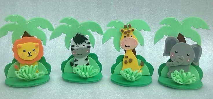 Figuras En Foami Animales De La Selva O Safari - BsF 50,00 en ...