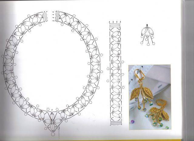 Resultado de imagen para bobbinlace choker jewerly pattern