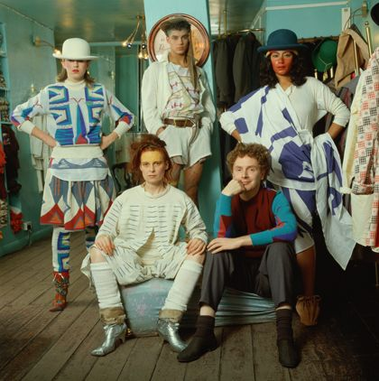 Nostalgia of Mud, Vivienne Westwood, 1982-83. Malcolm Mclaren at bottom right.