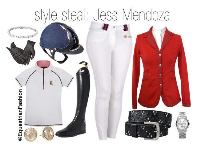 """Style Steal: Jess Mendoza"" by equestrianfashionofficial ❤ liked on Polyvore featuring Parlanti, Été Swim and Michael Kors"