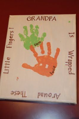 Handprint CraftFootprints Art, Footprint Art, Gift Ideas, Cute Ideas, Grandparents Day, Handprint Art, Canvas, Fathers Day Cards, Crafts