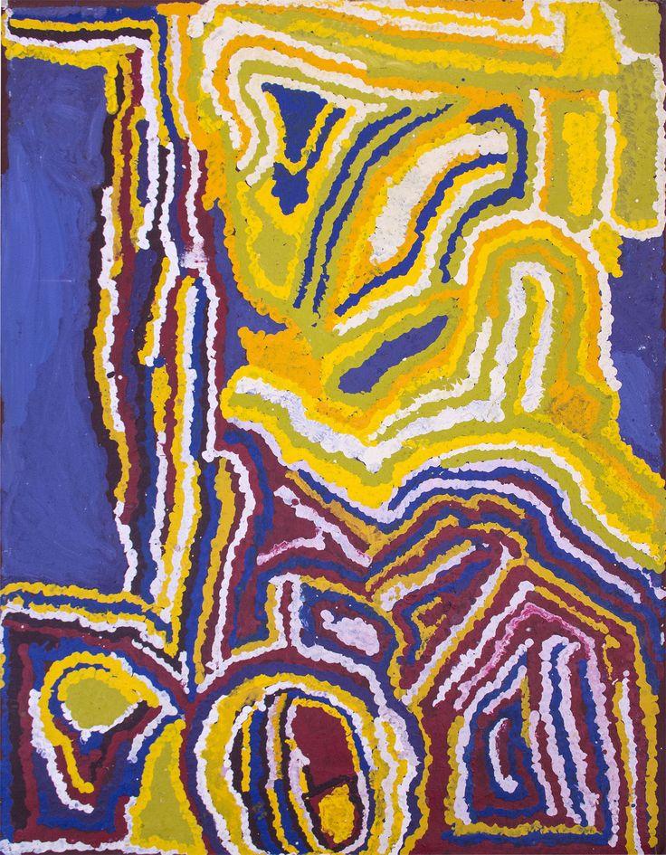 Mabel Wakarta - Parnngurr Ngurra - 122 x 91 cm - 11-1329 http://www.aboriginalsignature.com/martumiliartpeintureaborigene/mabel-wakarta-parnngurr-ngurra-122-x-91-cm-11-1329