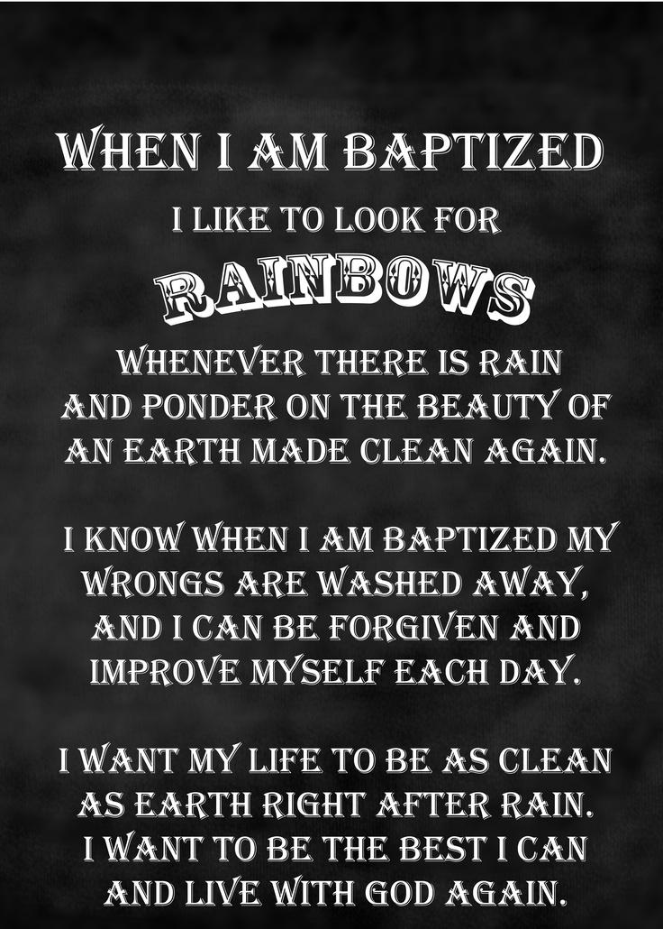 When I am Baptized- B chalkboard